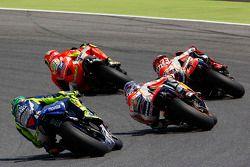 Andrea Iannone, Ducati Team, Marc Marquez et Dani Pedrosa, Repsol Honda Team