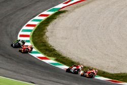 Marc Márquez, Repsol Honda Team con Andrea Iannone, Ducati Team y Dani Pedrosa, Repsol Honda Team co