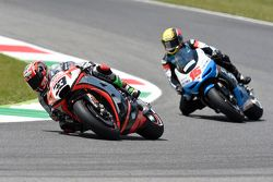 Marco Melandri, Aprilia Racing Team Gresini, et Alex de Angelis, Ioda Racing Project