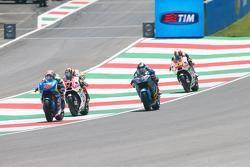 Maverick Viñales, Team Suzuki MotoGP, Danilo Petrucci, Pramac Racing Ducati, Scott Redding, Marc VDS Racing Honda, et Yonny Hernandez, Pramac Racing Ducati