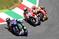 Jorge Lorenzo, Yamaha Factory Racing, Andrea Dovizioso, Ducati Team, et Marc Marquez, Repsol Honda Team