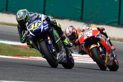 Valentino Rossi, Yamaha Factory Racing, et Dani Pedrosa, Repsol Honda Team