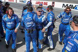 The Hendrick Motorsports crew celebrates