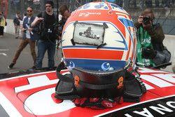Le casque de Timo Scheider, Audi Sport Team Phoenix Audi RS 5 DTM