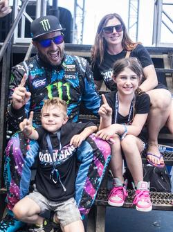 Winner Ken Block and family