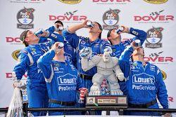 Hendrick Motorsports crew celebrates Jimmie Johnson's victory