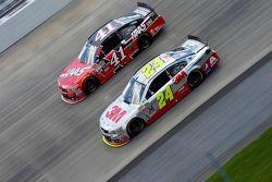 Jeff Gordon, Hendrick Motorsports Chevrolet y Kurt Busch, Stewart-Haas Racing Chevrolet