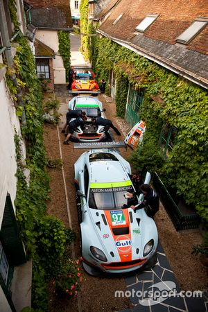 Aston Martin Racing at the Hotel de France