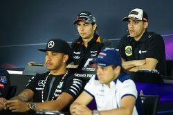 Pastor Maldonado, Lotus F1 Team, in der FIA-Pressekonferenz