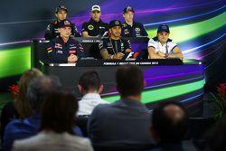 FIA Basın Konferansı, Sahara Force India F1; Pastor Maldonado, Lotus F1 Takımı; Daniil Kvyat, Red Bu
