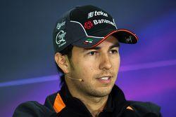 Sergio Perez, Sahara Force India F1 FIA Basın Konferansında