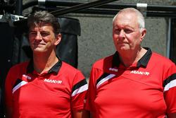 Graeme Lowdon, Manor F1 Team Director Ejecutivo con John Booth, Manor F1 Team Team Principal