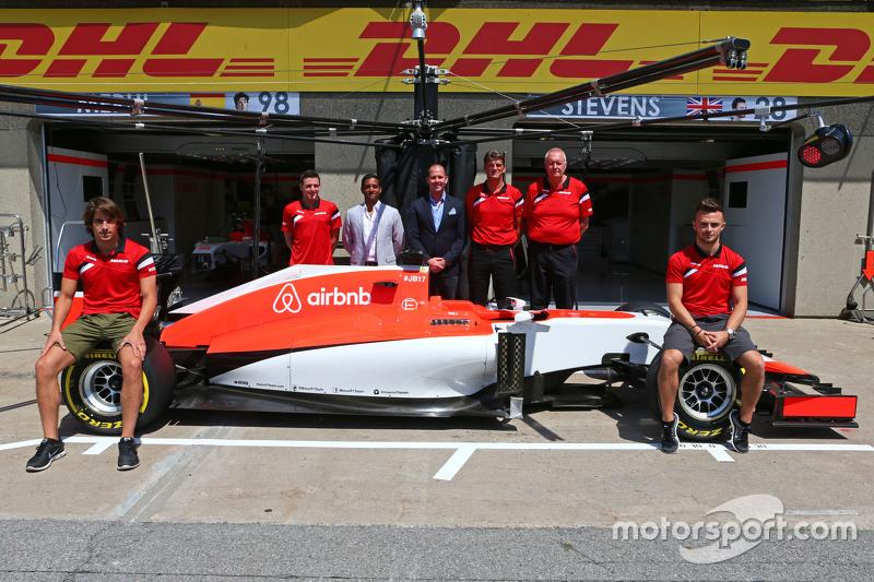 Roberto Merhi, Manor F1 Team and Will Stevens, Manor F1 Team; Graeme Lowdon, Manor F1 Team Chief Exe