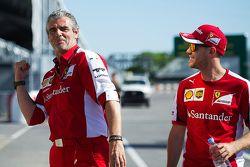 毛里齐奥•阿里瓦贝内, Ferrari Team Principal with 塞巴斯蒂安•维特尔