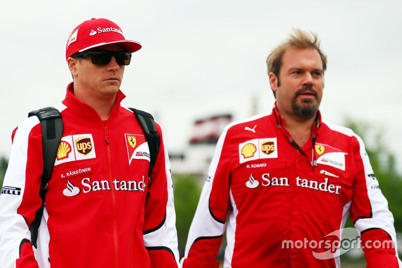 Kimi Raikkonen, Ferrari y Gino Rosato, Ferrari