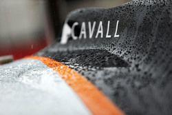 Sahara Force India F1 VJM08 aracı su damlalarıyla kaplanmış durumda