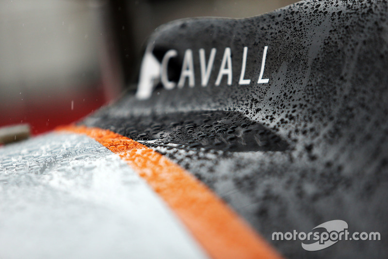 Sahara Force India F1 VJM08 covered in rain drops