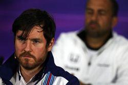 Rob Smedley, Williams, Leiter Fahrzeugperformance, in der FIA-Pressekonferenz