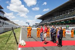 Ceremony to commemorate the tragey of the 1955 24 Hours of Le Mans: ACO President Pierre Fillon