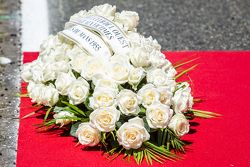 Ceremony to commemorate the tragey of the 1955 24 Hours of Le Mans