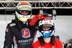 Justin Wilson, Andretti Autosport et Sam Bird, Virgin Racing