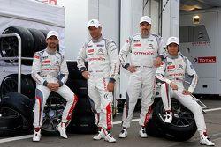 Jose Maria Lopez, Sébastien Loeb, Yvan Muller, Ma Qing Hua, Citroën C-Elysée WTCC, Citroën World Touring Car team