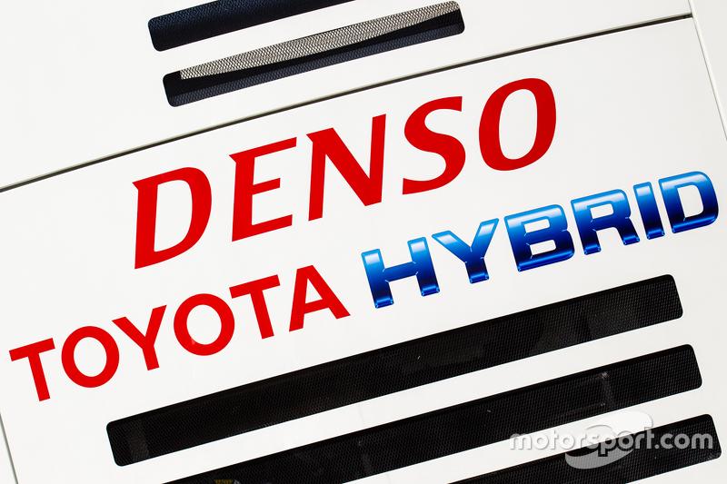 Toyota Racing transporter and logo / signage