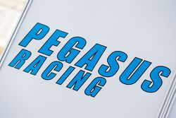 Pegasus Racing transporter and logo / signage