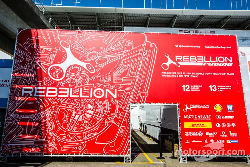 Rebellion Racing, Schriftzug