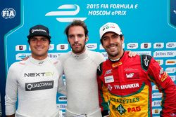 Nelson Piquet Jr., China Racing ve pole sahibi Jean-Eric Vergne, Andretti Autosport ve Lucas di Gras