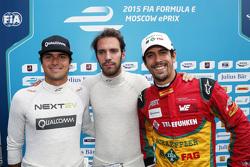 Nelson Piquet jr., China Racing; Pole-Sitter: Jean-Eric Vergne, Andretti Autosport, und Lucas di Gra