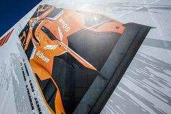 G-Drive Racing transporte y el logotipo / señalización