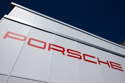 Porsche Team transporter and logo / signage