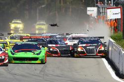 #3 Belgian Belgian Audi Club Team WRT Audi R8 LMS ultra: Stéphane Richelmi, Stéphane Ortelli and #4