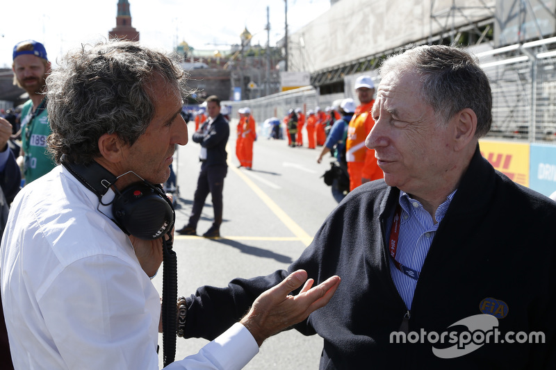 Alain Prost, e.dams-Renault Formula E Team e il Presidente FIA Jean Todt