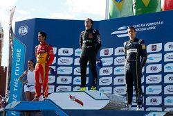 Podyum: İkinci Lucasi di Grassi, Audi Sport - Takım: Abt ve kazanan Nelson Piquet Jr., China Racing