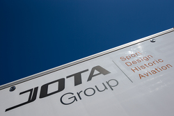 Jota Sport transporter and logo / signage