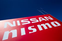 Nissan Motorsports paddock area and logo / signage