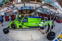 Pit stop practice for #40 Krohn Racing Ligier JS P2