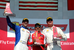 Podium: race winner #8 Ferrari of Fort Lauderdale, second place Marc Muzzo, third place Steve Johnso
