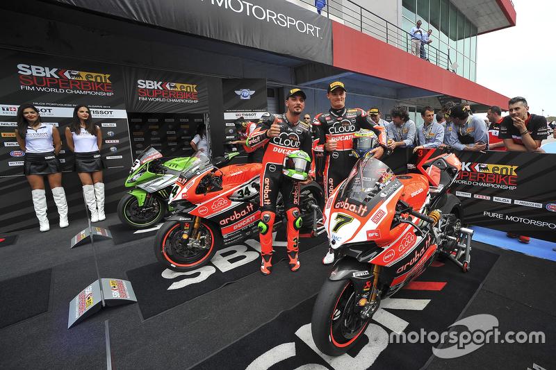 Davide Giugliano dan Chaz Davies, Ducati Superbike Team