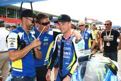 Alex Lowes, Voltcom Crescent Suzuki, y Paul Denning, Jefe De Equipo