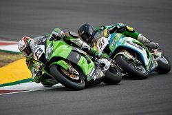 Santiago Barragan, Grillini Racing Team, y Christophe Ponsson, Team Pedercini