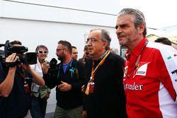 Sergio Marchionne, Ferrari-Präsident und Geschäftsführer von Fiat Chrysler Automobiles, mit Maurizio