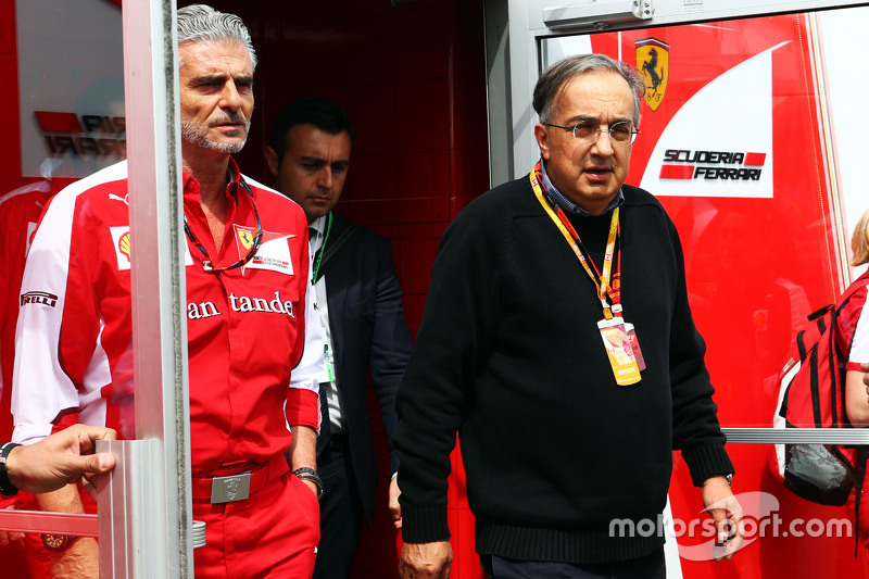 Maurizio Arrivabene, Ferrari Team Principal con Sergio Marchionne, Presidente Ferrari e CEO di Fiat