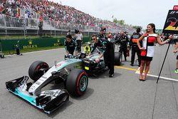 Nico Rosberg, Mercedes AMG F1 W06 no grid
