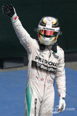 Podium: 1. Lewis Hamilton, Mercedes AMG F1