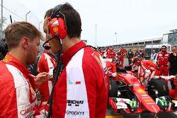Sebastian Vettel, Ferrari no grid