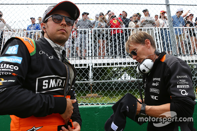 Sergio Perez, Sahara Force India F1 di grid