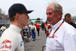 Daniil Kvyat, Red Bull Racing com Dr Helmut Marko, consultor da Red Bull Motorsport no grid